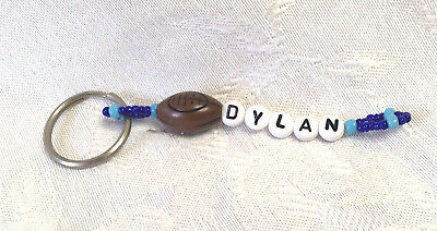 DYLAN personalized beaded men or boys keychain-NEW-Handmade