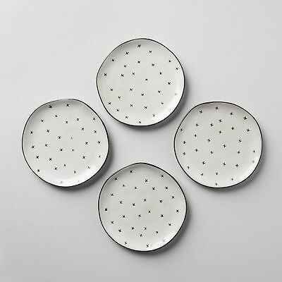 X Pattern Hearth & Hand with Magnolia Dessert Plates (set of 4) NEW in Box
