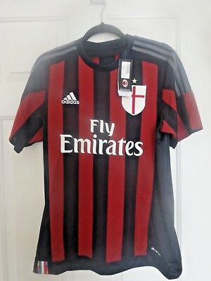 AC Milan Home Jersey Soccer Top - Size Medium - Climacool - New with Tags