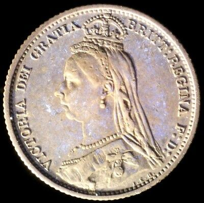 Great Britain 1887, 6 Pence KM# 759 {Silver}