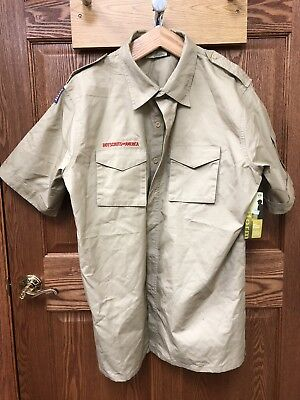 BOY SCOUTS Of America UNIFORM Shirt  LEADER Short Sleeve Scout Adult Large