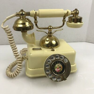 Vintage French Victorian Style Brass Gold Finish Rotary Dial Telephone Singapore