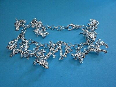NEW Pretty Mixed Silver Charms Bracelet