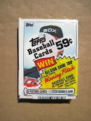 1985 TOPPS CELLO PACK with TOM SEAVER on TOP ORIGINAL UNOPENED Vintage Cards