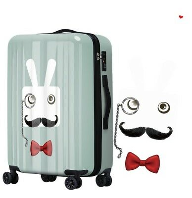 E334 Gentleman Rabbit Universal Wheel ABS+PC Travel Suitcase Luggage 28 Inches W