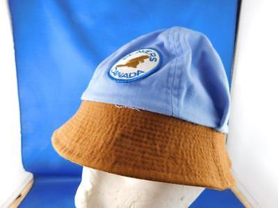 Small Beavers Canada Uniform Hat Brown Blue Crest Patch Logo