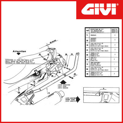 Supports Porte-Bagages [Givi] - Zzr 600 (1993-2001) - Cod.423F