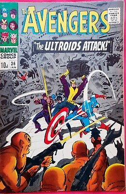 AVENGERS 36 Marvel Silver Age 1967 Scarlet Witch & Quicksilver join the Avengers