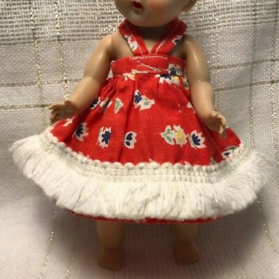 1950s Vintage Doll Clothes DRESS, Virga, Vogue Ginny, Ginger, Muffie, Alex, 8""