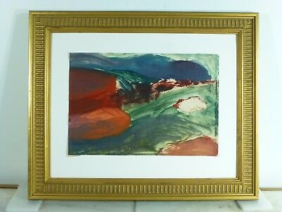 VINTAGE ABSTRACT MODERNIST OIL PAINTING Mid Century Modern Signed