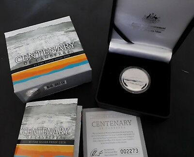 2013 Australian Centenary of Canberra Proof 36.31gm Silver (.999) $5 Coin