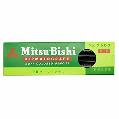 Mitsubishi Pencil pencil oily grease pencil No.7600 black dozen K7600.24