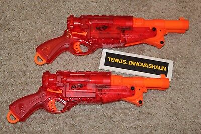LOT OF 2 NERF N-Strike Elite Barrel Break IX-2 Sonic Fire Double Barrel Shotgun