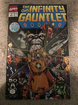 The Infinity Gauntlet #1 (July 1991, Marvel)Superb Copy! Thanos Starlin Story