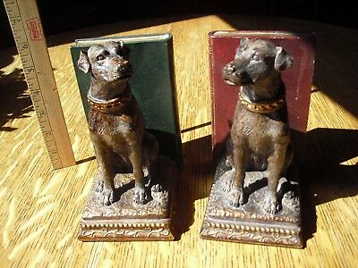 """Vintage Dog Bookends *heavy* Very Nice!"""""""