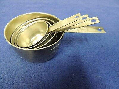 Vintage Foley Set of 4 Measuring Cups Stainless Steel