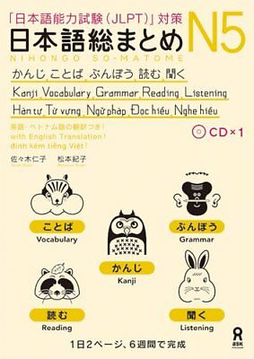 Japanese Roundup N5 feeling, words, grammar, reading and listening [English and