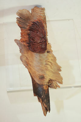 Hand Carved Forest Spirit Wood Wall Art