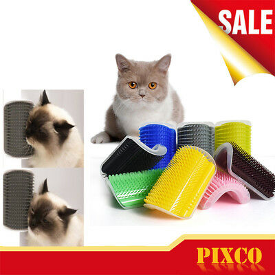 Pet Cat Self Groomer Brush Wall Corner Grooming Massage Comb Toy Cleaner Tool