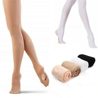 Microfiber Convertible Footed Socks Tights Pant Ballet Pantyhose Dance Stocking