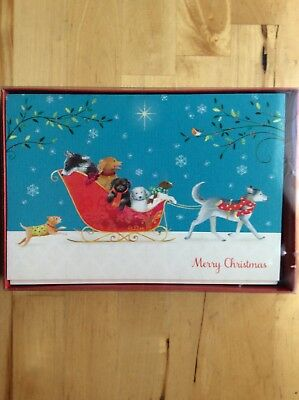 Dachshund Doxie Dog Boxed Set of 18 Christmas Holiday Cards & Envelopes