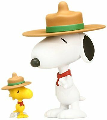 UDF PEANUTS Series 3 BEAGLE SCOUT SNOOPY & WOODSTOCK made of non-scale PVC Paint