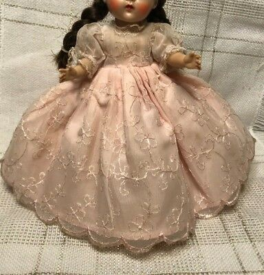 1950s Vintage Doll Clothes FORMAL DRESS, Ginger(tag), Vogue Ginny, Muffie, 8""