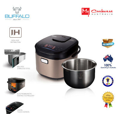 Buffalo IH Stainless Steel Smart Cooker (1-10cups)