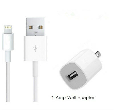 Wall Charger + 3 FT Lightning USB SYNC Cable Cord for iPhone 8 7 5C 5S 6 6s Plus