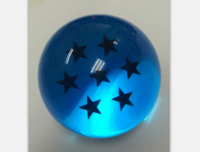 Blue 7PCS JP Anime DragonBall Z Stars Crystal Ball Collection Set with Box Gift