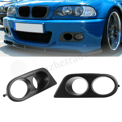 For BMW E46 M3 01-06 Front Fog Light Lamp Cover Surrounds Air Duct ABS Hamman