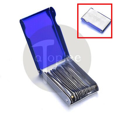 20pcs Gas Welding Tip Nozzle Cleaner Set Needle File Torch Cutting w/ Metal Box