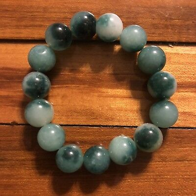 Chinese Stone Bracelet Agate? Jade? Asian Bead Jewelry Antique? Vintage? Old?