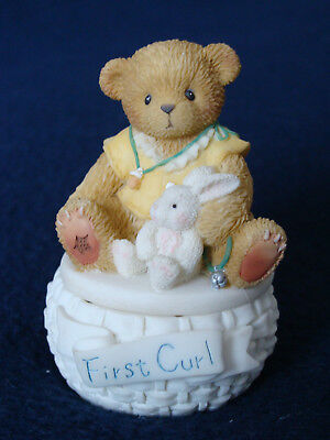 Cherished Teddies - First Curl Covered Box - 778915A - 2001