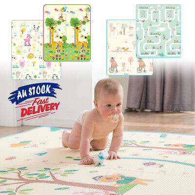 Floor Play Crawling Mat Baby Kids Foldable Picnic Cushion Rug Alphabet Animal
