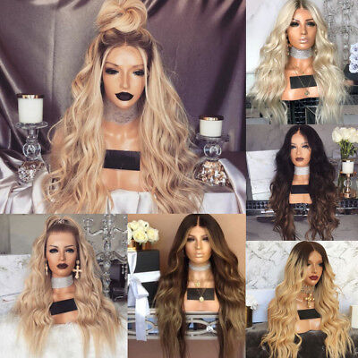 Kinky Curly Synthetic Ombre Hairstyle Blonde Hair For Women Full Wigs Long Wavy