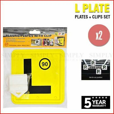 2x L Plate Clips Holder Set White Car Number License NSW P Red Green P1 P2 Free