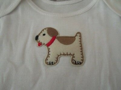 Best of Chums White Long Sleeve Top w/Stitched Puppy Size 12 mo NWOT