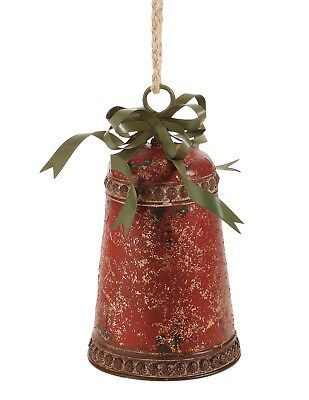 Victorian Trading Co Red Iron Grand Christmas Bell