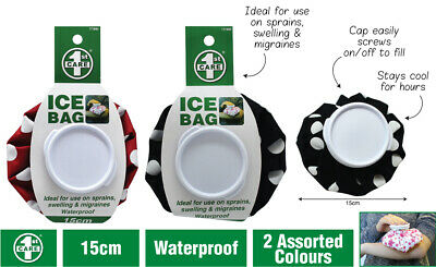 2 x Re-useable Ice Bag | Screw Lid Ice Pack First Aid Assorted 15cm