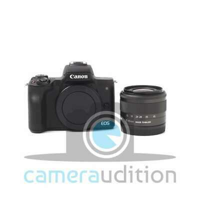 Genuino Canon EOS M50 Mirrorless Digital Camera with 15-45mm Lens (Black)