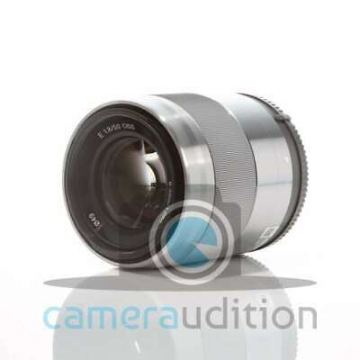 Genuino Sony E 50mm F1.8 OSS E-mount Lens SEL50F18 (Silver)