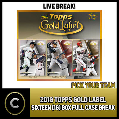 2018 Topps Gold Label Baseball 16 Box (Full Case) Break #a051 - Pick Your Team