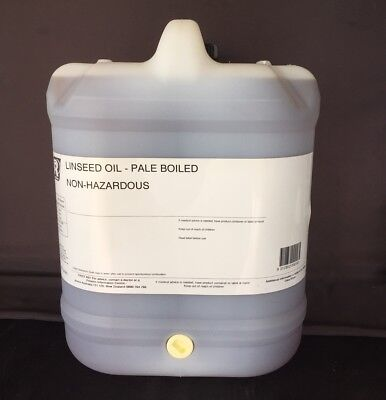 Linseed Oil - Pale Boiled -  20 Litre Drum with tap.