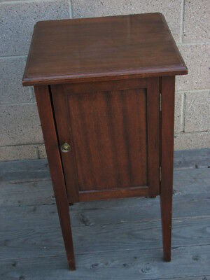 Antique 1920's Furniture Mahogany Wood Side Table - Nightstand with Drawer