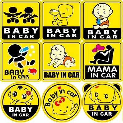 Baby on board sticker baby in car sticker
