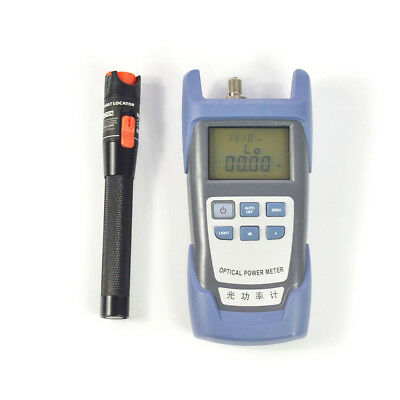 Hot Fiber Optical Power Meter and 10km 10mW Visual Fault Locator Cable Tester