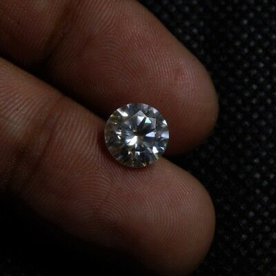 1.7 Cts 8x8x4.5 mm Round Faceted Brilliant Cut Loose Moissanite Gemstone ML#-6