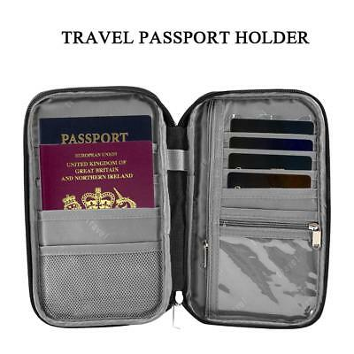 Travel Bag Wallet Purse Document Organiser Zipped Passport Tickets ID Holder Hot
