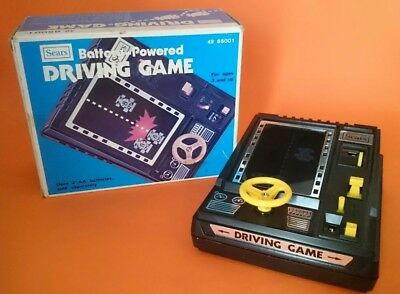 Vintage Sears Driving Game Battery operated in working condition-in original box
